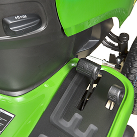 Two-pedal foot control and cruise lever