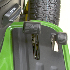 Cruise control lever and two-pedal foot control