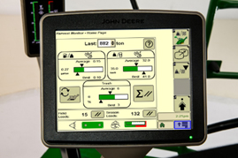 Harvest Monitor screen